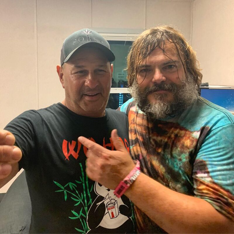 Howie with Jack Black